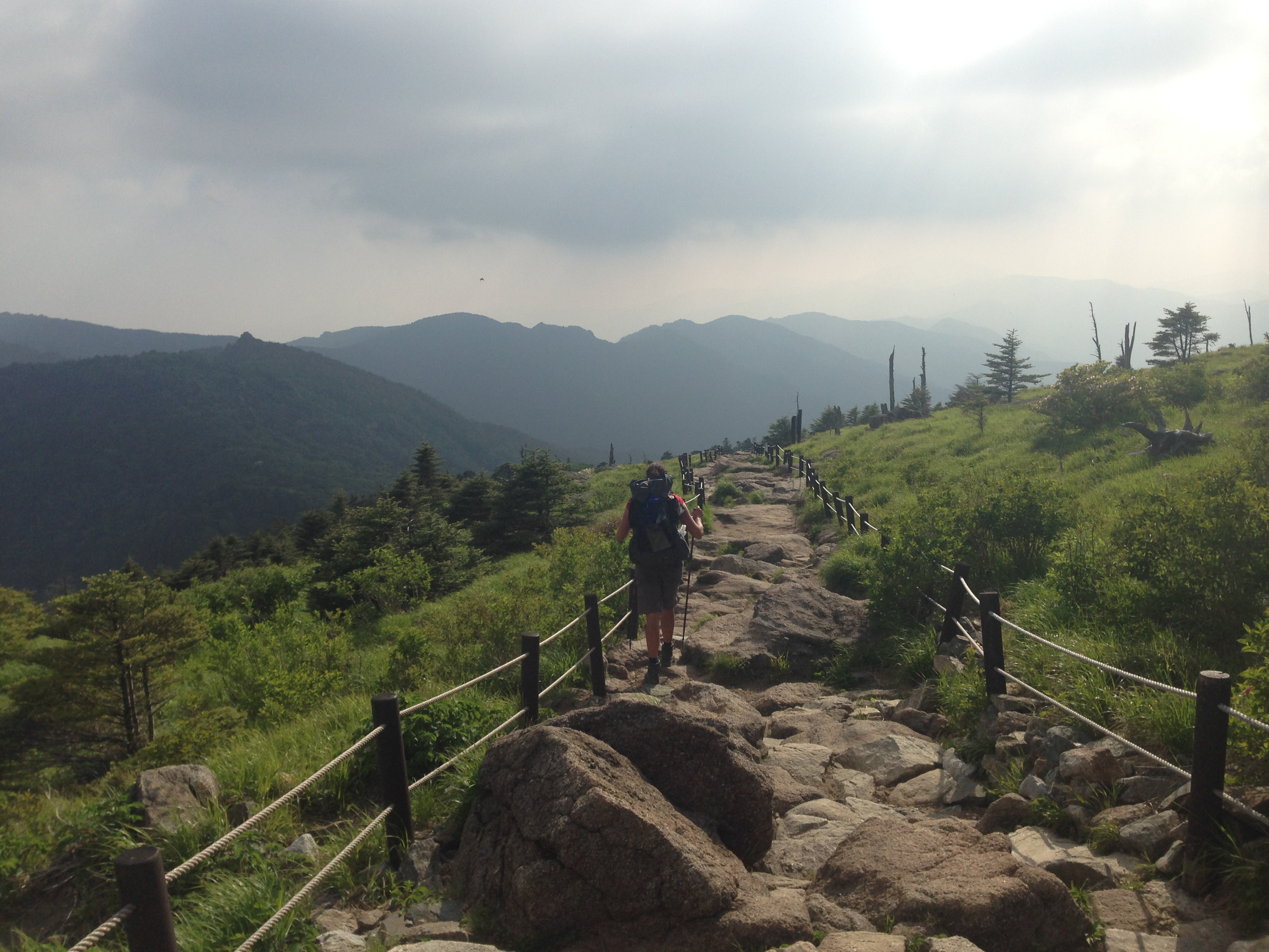 Hiking in Jiri-San National Park, at the southern end of the trail.